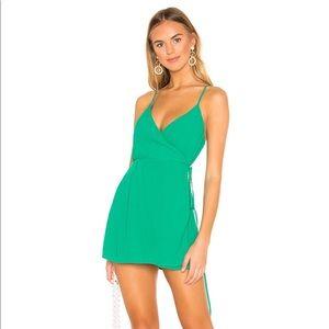 Superdown green wrap dress XS NEW